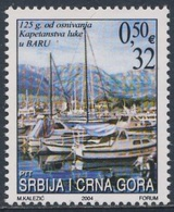 Serbia And Montenegro 2004 Mi 3217 SG 98 ** Sailboats - 125th Ann. Bar - Montenegrin Port / Segelboote - Seehafen Bar - Transportmiddelen