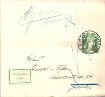 Streifband 27  Zürich  (Abgereist)          1909 - Stamped Stationery