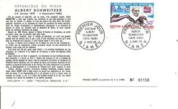 Prix Nobel - Albert Schweitzer ( FDC Du Niger De 1966 à Voir) - Nobel Prize Laureates