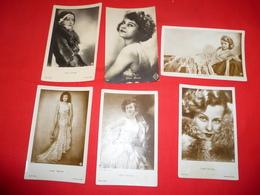 6 Cartoline Lilian Haevey Attrice* - Donne Celebri