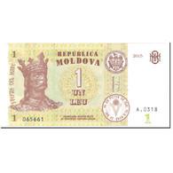 Billet, Moldova, 1 Leu, 2015, Undated (2015), KM:8i, NEUF - Moldavie