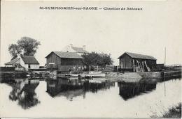 SAINT SYMPHORIEN SUR SAONE Chantier De Bateaux - France