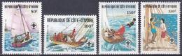 Elfenbeinküste Ivory Coast Cote D'Ivoire 1982 Organisationen Pfadfiner Scouts Schiffe Ships Boote Boats, Mi. 728-1 ** - Côte D'Ivoire (1960-...)