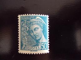 "1942      -timbre Neuf, ++   N°538         "" Mercure 50 C Turquoise          ""         Côte  0.15    Net      0.05 - 1938-42 Mercure"