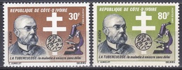 Elfenbeinküste Ivory Coast Cote D'Ivoire 1982 Persönlichkeiten Medizin Medicine Robert Koch Tuberkulose, Mi. 726-7 ** - Côte D'Ivoire (1960-...)