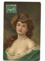FEMMES - FRAU - LADY - Jolie Carte Fantaisie Jeune Femme - Femmes