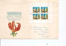 Rhodésie ( FDC De 1970 Avec Feuille De Carnet à Voir) - Rhodésie (1964-1980)