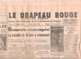 Ancien Journal Drapeau Rouge Du 12 Avril 1945 - Documents Historiques