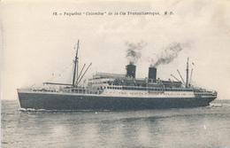 FRANKREICH -    Passagierdampfer / Steamer  Colombie - Paquebots