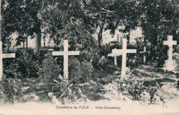 CPA   PAPAOUSIE NOUVELLE GUINEE---CIMETIERE DE YULE - Papouasie-Nouvelle-Guinée
