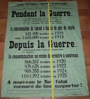 Grande Affiche Ligue Nationale Contre L'alcoolisme. Malgré L'interdiction De L'absinthe ... Imp. L'Universelle à Auxerre - Affiches