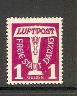 006698 Danzig 1935 Air 1 Gulden MH - Dantzig