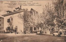 VALSUGANA ALBERGO S. CRISTOFORO AL LAGO PRIMO PIANO D'EPOCA ANIMATO ANNO 1931 - Trento