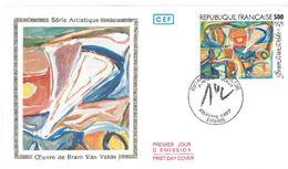 FDC Série Artistique Tableau De Bram Van Velde (75 Paris 25/04/1987) - FDC