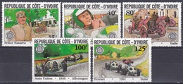 Elfenbeinküste Ivory Coast Cote D'Ivoire 1981 Sport Autorennen Car Racing Grand Prix Fiat Ferrari Rennwagen, Mi. 706-0** - Côte D'Ivoire (1960-...)