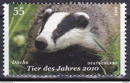 Timbre-poste Gommé Neuf** - Faune De L'année 2010 Blaireau - N° 2590 (Yvert) - République Fédérale D'Allemagne 2009 - [7] Federal Republic