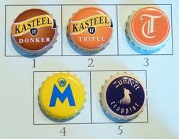 Lot N° 31-1 : 5 Capsules De Bière (parfait état - Pas De Trace De Décapsuleur) Beer - Cerveza - Birra - Bière