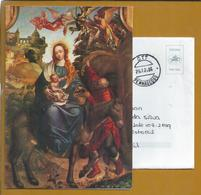 Christmas Postcard Stationery.'Escape To Egypt' Portuguese Painting Of 16th Century.XVI Of National Museum Ancient Art.2 - Kunst