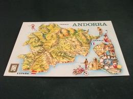 CARTA GEOGRAFICA  Andorra Ciclismo Sci Motocross Pesca Sportiva Stemma - Carte Geografiche