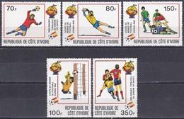 Elfenbeinküste Ivory Coast Cote D'Ivoire 1981 Sport Spiele Fußball Football Soccer FIFA WM Spanien Espana, Mi. 695-9 ** - Côte D'Ivoire (1960-...)