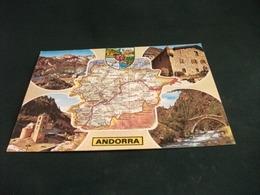 CARTA GEOGRAFICA  Andorra VEDUTE - Carte Geografiche