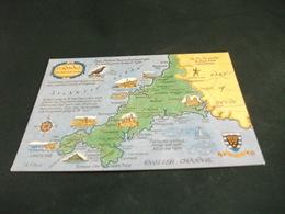 CARTA GEOGRAFICA  ENGLISH CHANNEL  CORNWALL  STEMMA - Carte Geografiche