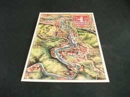CARTA GEOGRAFICA KARLOVY VARY  STEMMA REPUBBLICA CECA - Carte Geografiche