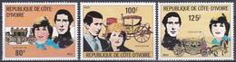 Elfenbeinküste Ivory Coast Cote D'Ivoire 1981 Persönlichkeiten Königshäuser Royals Hochzeit Charles Diana, Mi. 688-0 ** - Côte D'Ivoire (1960-...)