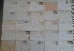 Belgique - 1981/83 - Petit Lot De 25 Lettres Recommandées Envoyées Depuis La WALLONIE - Timbres