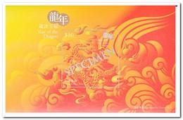 Hongkong, Postfris MNH, Year Of The Dragon, Specimen Stamp Sheetlet Souvenir Pack - 1997-... Région Administrative Chinoise