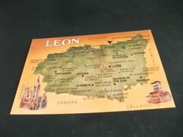 CARTA GEOGRAFICA LEON SPAGNA - Carte Geografiche