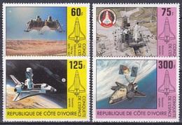 Elfenbeinküste Ivory Coast Cote D'Ivoire 1981 Weltall Weltraum Space Raumfahrt Raumfähre Shuttle Viking, Mi. 680-3 ** - Côte D'Ivoire (1960-...)