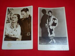 2 Cartoline Fay Wray Attrice E Richard Arlen * - Donne Celebri