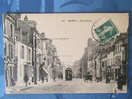 Reims . Rue Chanzy . Tramway - Reims