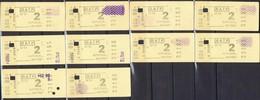 Tickets De Métro Parisien Utilisés - RATP - AUTOBUS METRO - U-U - Lot De 10 N° Se Suivants - Métro