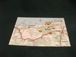 CARTA GEOGRAFICA MAPA TURISTICO CORNISA CANTABRICA - Carte Geografiche