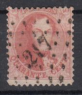 BELGIË - OBP - 1863 - Nr 16 (T/D 12 1/2) -  COBA : P 217 - Postmarks - Points