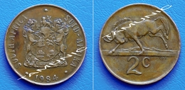 SOUTH AFRICA SUID AFRIKA 2 Cents 1984 BLACK WILDEBEEST - South Africa