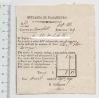 1849 - Ricevuta Comunale Di Quietanza Di Pagamento. - Italia