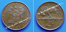 SOUTH AFRICA SUID AFRIKA 2 Cents 1985 BLACK WILDEBEEST - South Africa