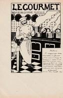 Carte Postale Ancienne Publicitaire D'une Revue Culinaire - Le Gourmet - Revue De Cuisine Pratique - Vers 1900 - Advertising