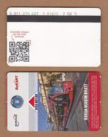 AC - SUBWAY SINGLE RIDE METROCARD, BUS CARD #36 BURSA, TURKEY - Titres De Transport