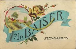 Enghien :  Un Baiser   (  Ecrit Avec Timbre ) - Enghien - Edingen