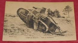 10 - Camp De Mailly - Tank En Manoeuvre :::: Animation - Militaires - Soldats - Portraits ----------- 483 - Manöver