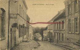 Court-Saint-Etienne :  Rue Du Village  ( Ecrit Avec Timbre  )   Edit  DESAIX - Court-Saint-Etienne