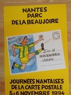 Affiche - Nantes - F.C.N. - Illustrateur Alexandre - Joueuse Avec La Coiffe Nantaise Shootant - Cartophilie 1994 - Affiches