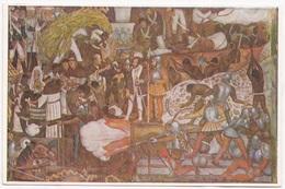 Fresco, Diego Rivera, Hernan Cortes And Fray Bartolome, Palacio Nacional De Mexico, Unused Postcard [22622] - Mexico