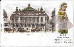 PARIS 75 SEINE CARTE A SYSTÈME POUPÉE BAROMÈTRE CARTE 11 OPÉRA DOS NON DIVISE . JCT&DG - Altri Monumenti, Edifici