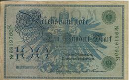 Berlin - Reichsbanknote -- 7.Febr. 1908  100 Mark  (40018) - [ 2] 1871-1918 : Duitse Rijk