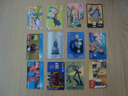LOT DE 12 CARTES DE TELEPHONE TELECARD - Télécartes